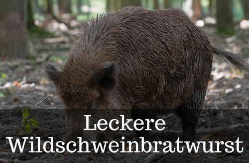 Wildschweinbratwurst selber hestellen und zubereiten